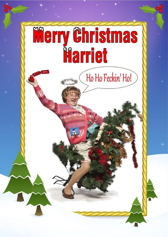 Personalised Mrs Brown S Boys Christmas Card Design 2